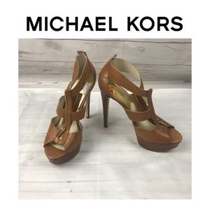 Michael Kors Shoes - Michael Kors Berkley Tan High Heel Sandals. Sz 11M